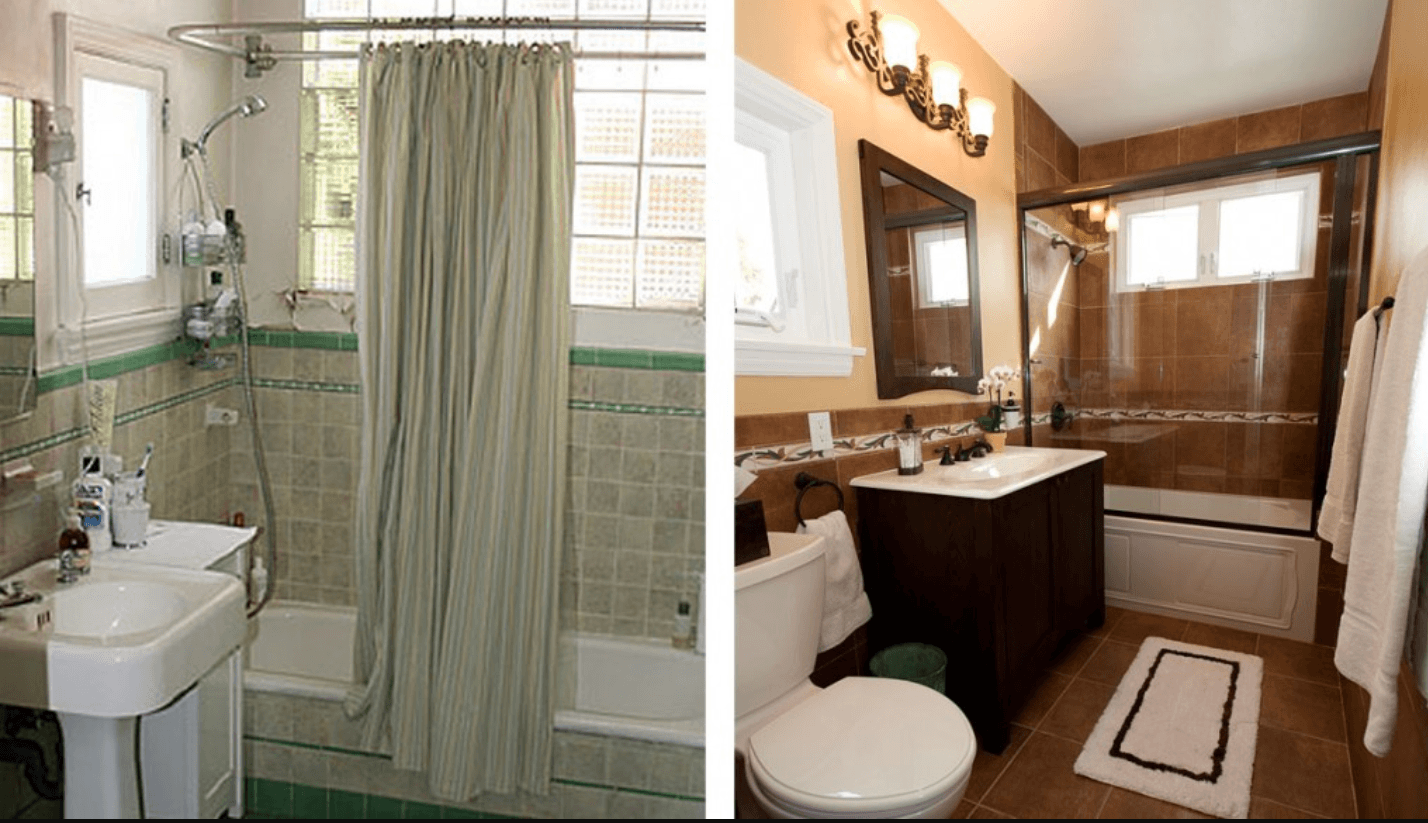 Before and After: 9 Small-Bathroom Transformations That Wow Bathroom renovation before and after photos
