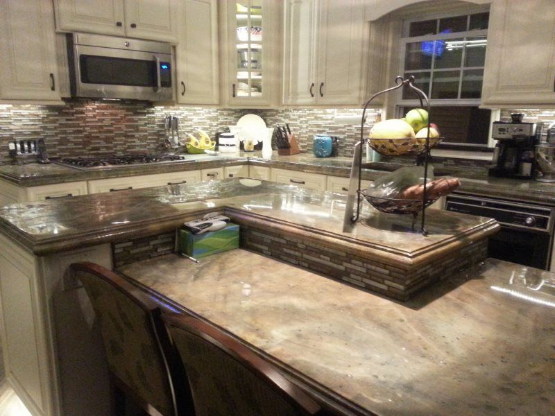 decorative concrete images - concrete countertops, floor overlays