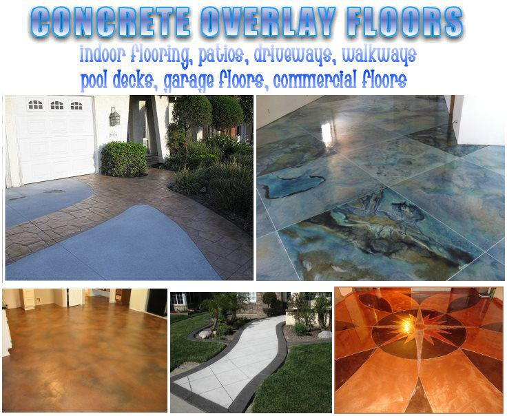 concrete floor overlays - decorative concrete - best decorative