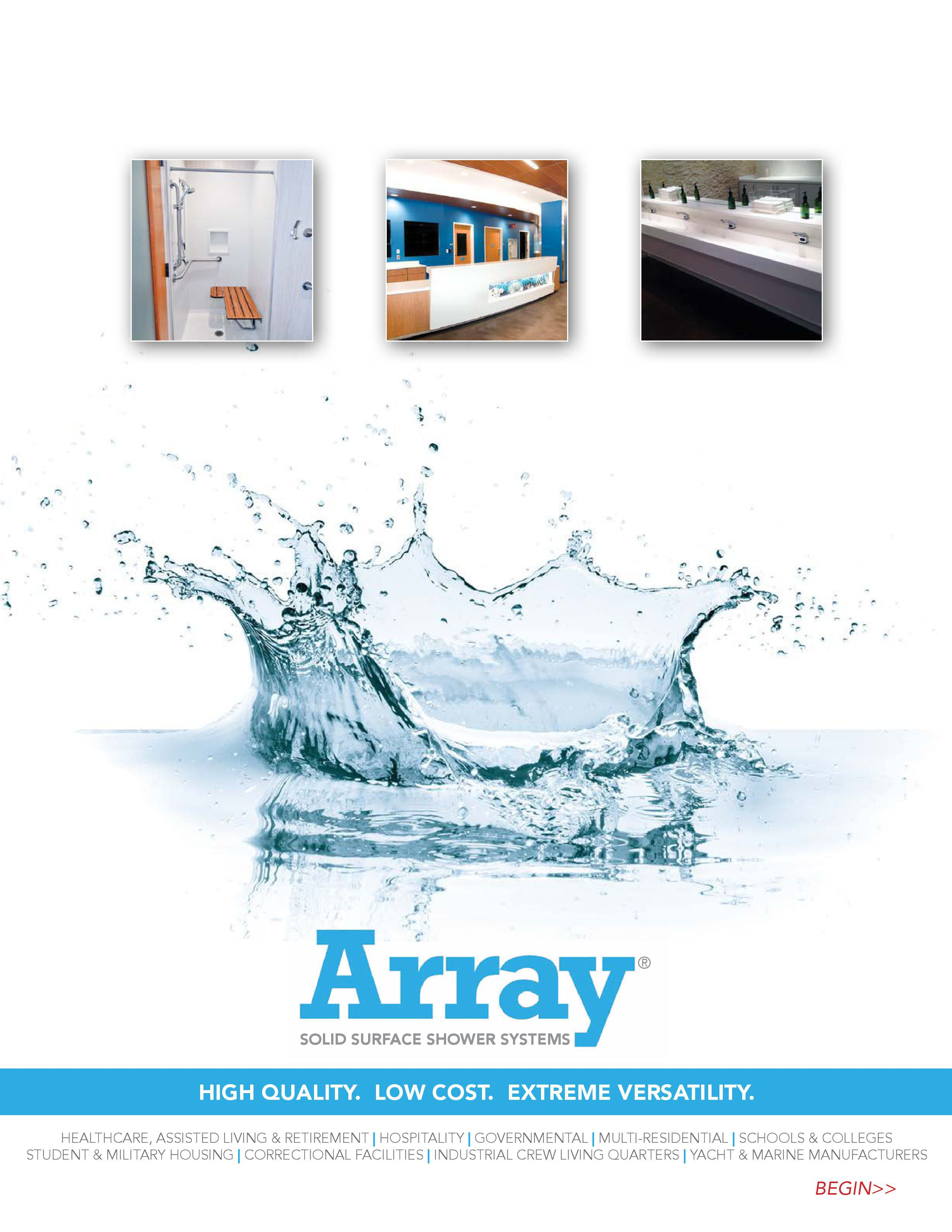 about - ARRAY Solid Surface Shower Systems