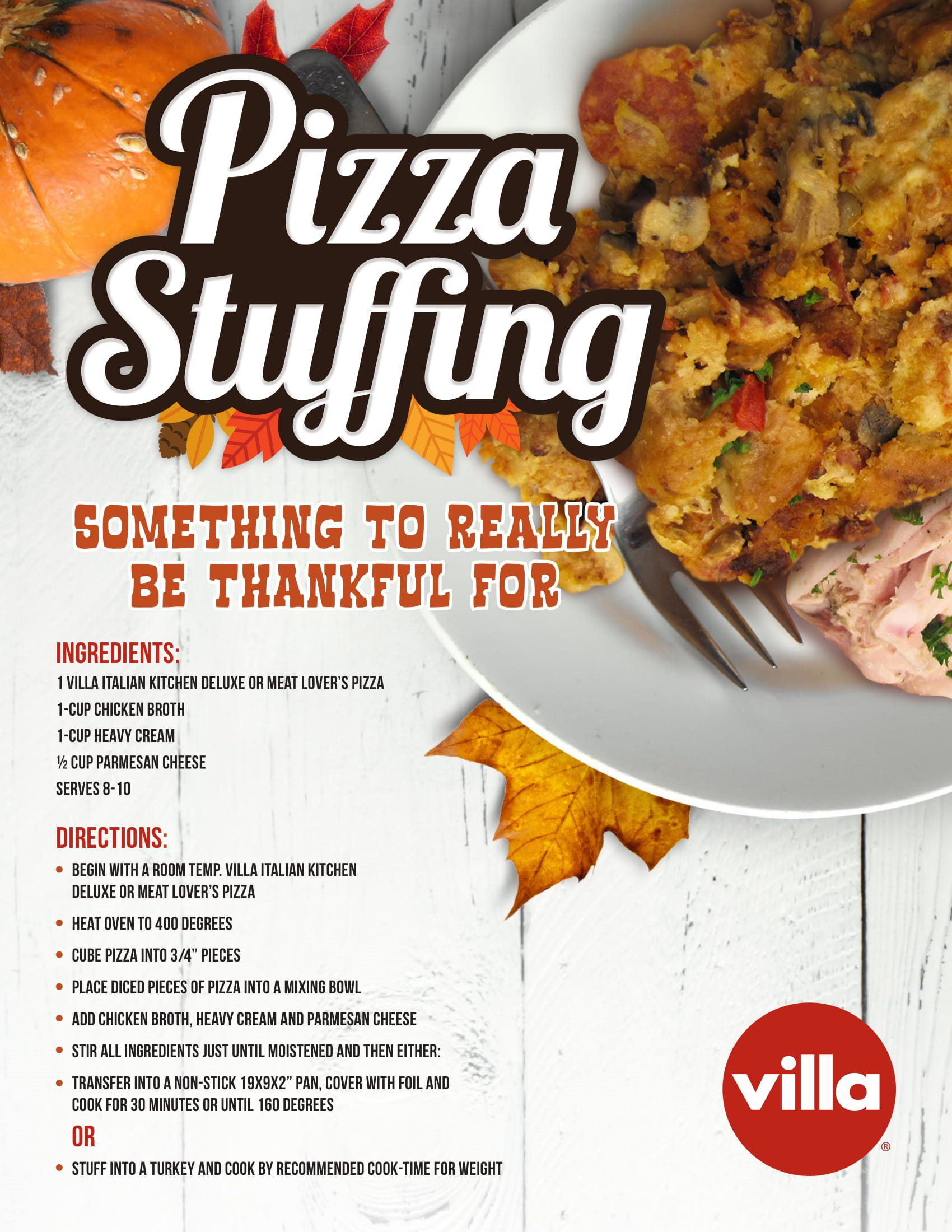 Villa Italian Kitchen Pizza Stuffing Villa Italian Kitchen