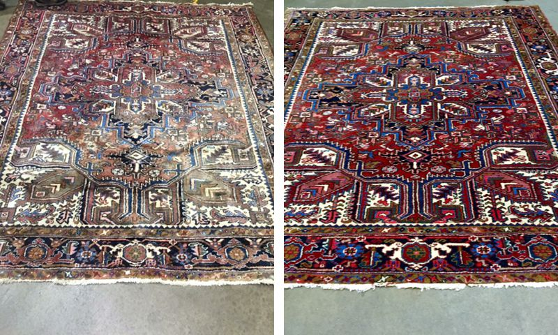 Persian Oriental Rug Restoration Carpet Dyeing By Colorful Carpets