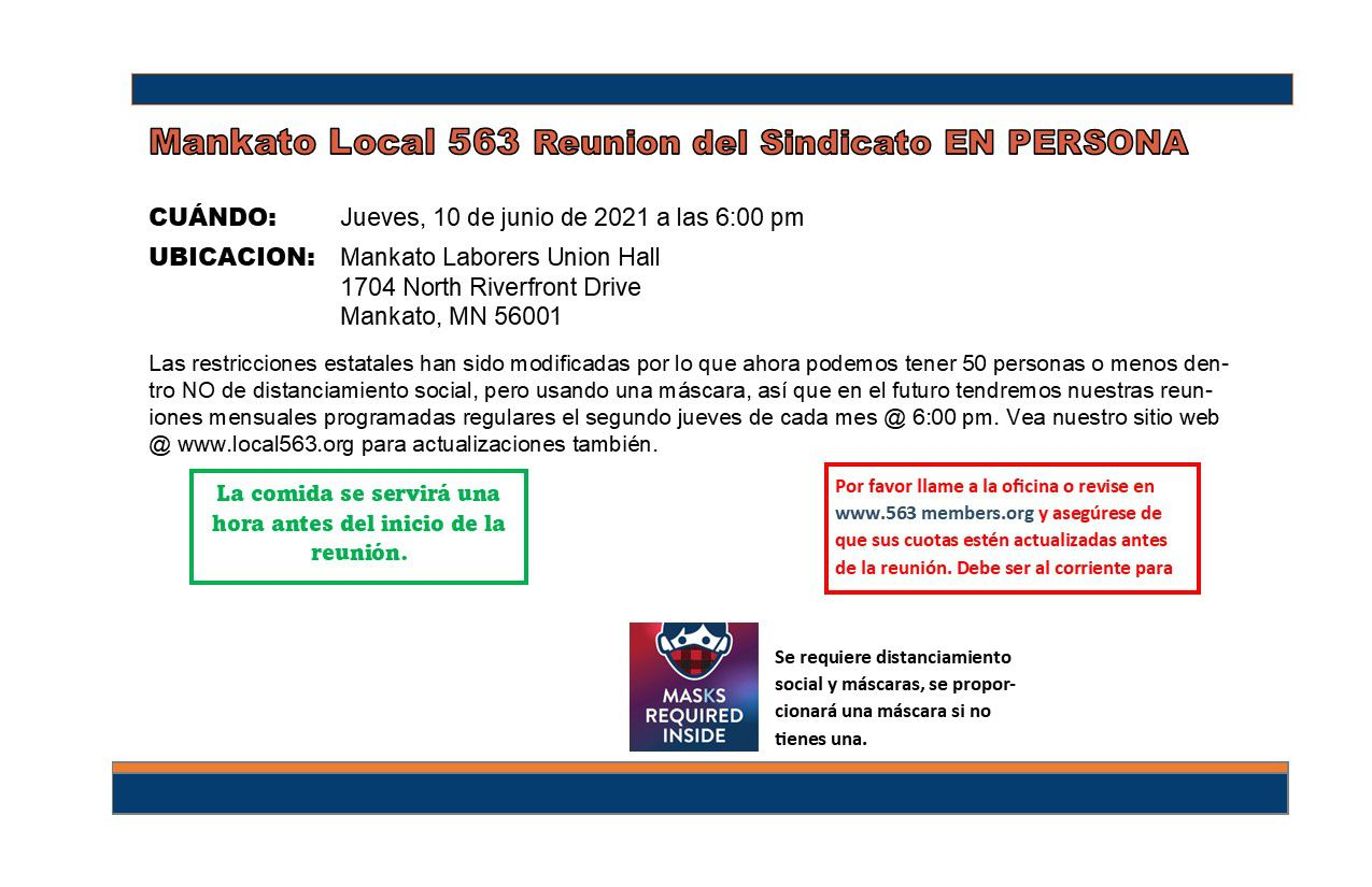 June 10th Mankato union mtg notice SPANISH.jpg