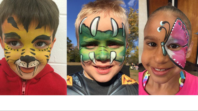 kids with mask tattoo