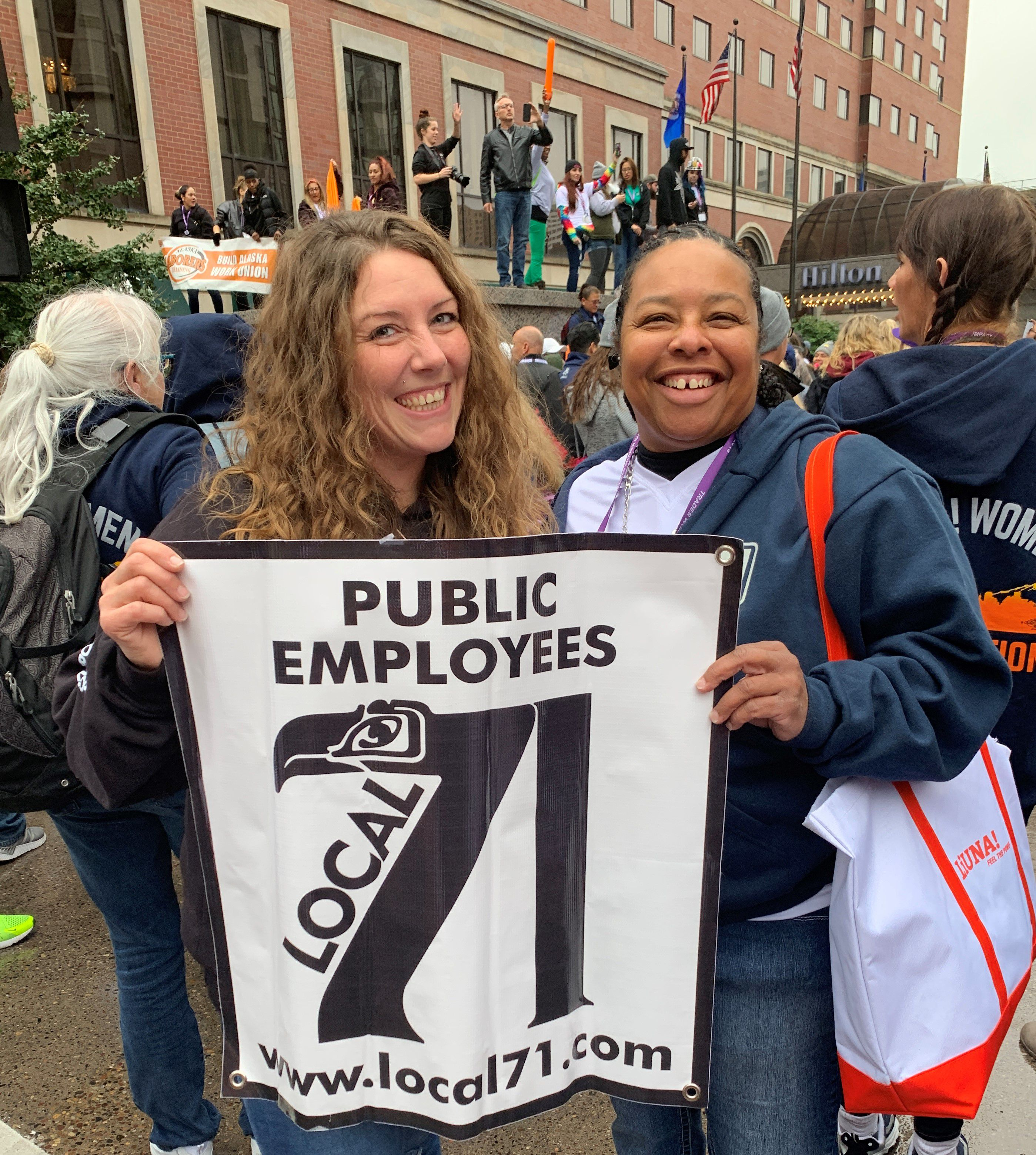 Proudly representing Local 71 Charlene Beckley Desiree Wilson 2019 Tradeswomen Build Nations.JPG
