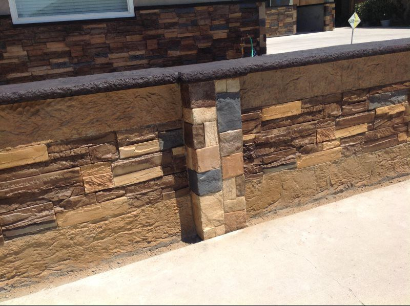 Stamped Concrete Siding : Concrete countertop photo gallery askhomedesign