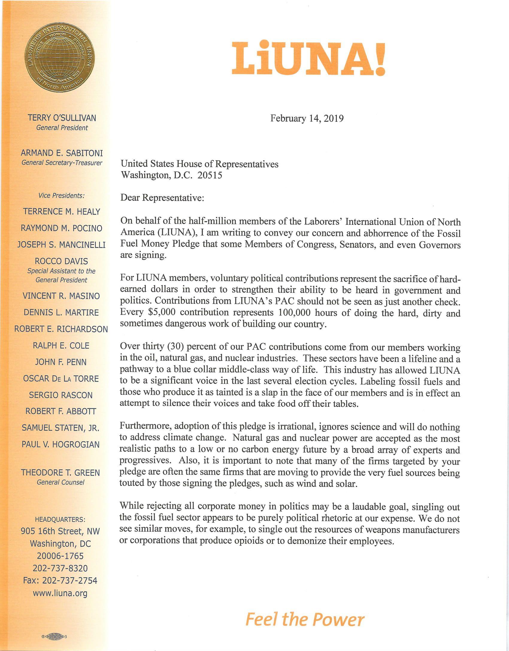 House Fossil Fuel Money Pledge Ltr Feb 2019-1.jpg