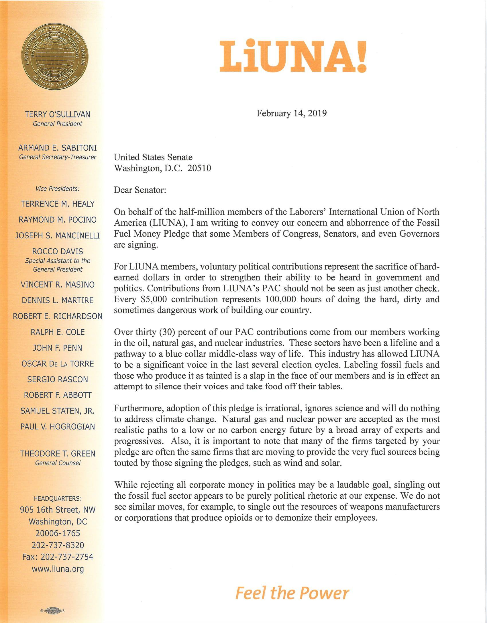 Senate Fossil Fuel Money Pledge Ltr Feb 2019-1.jpg