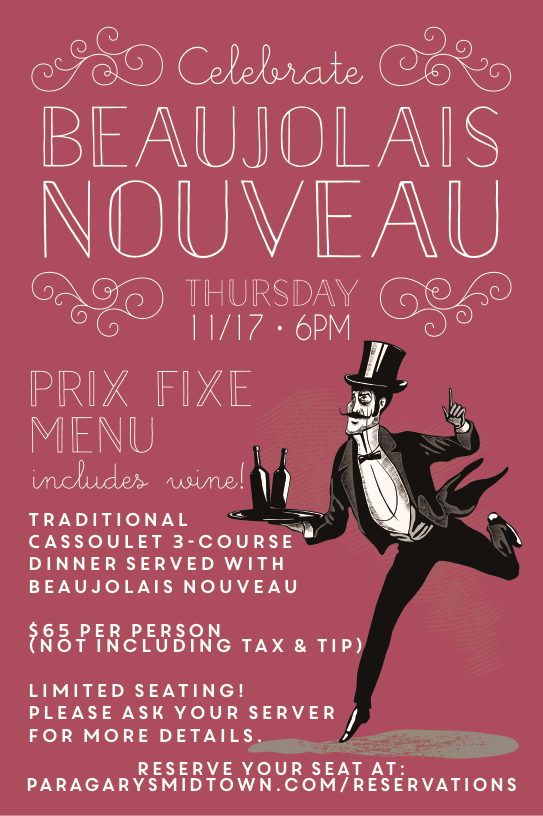 beaujolais nouveau dinner at paragary's