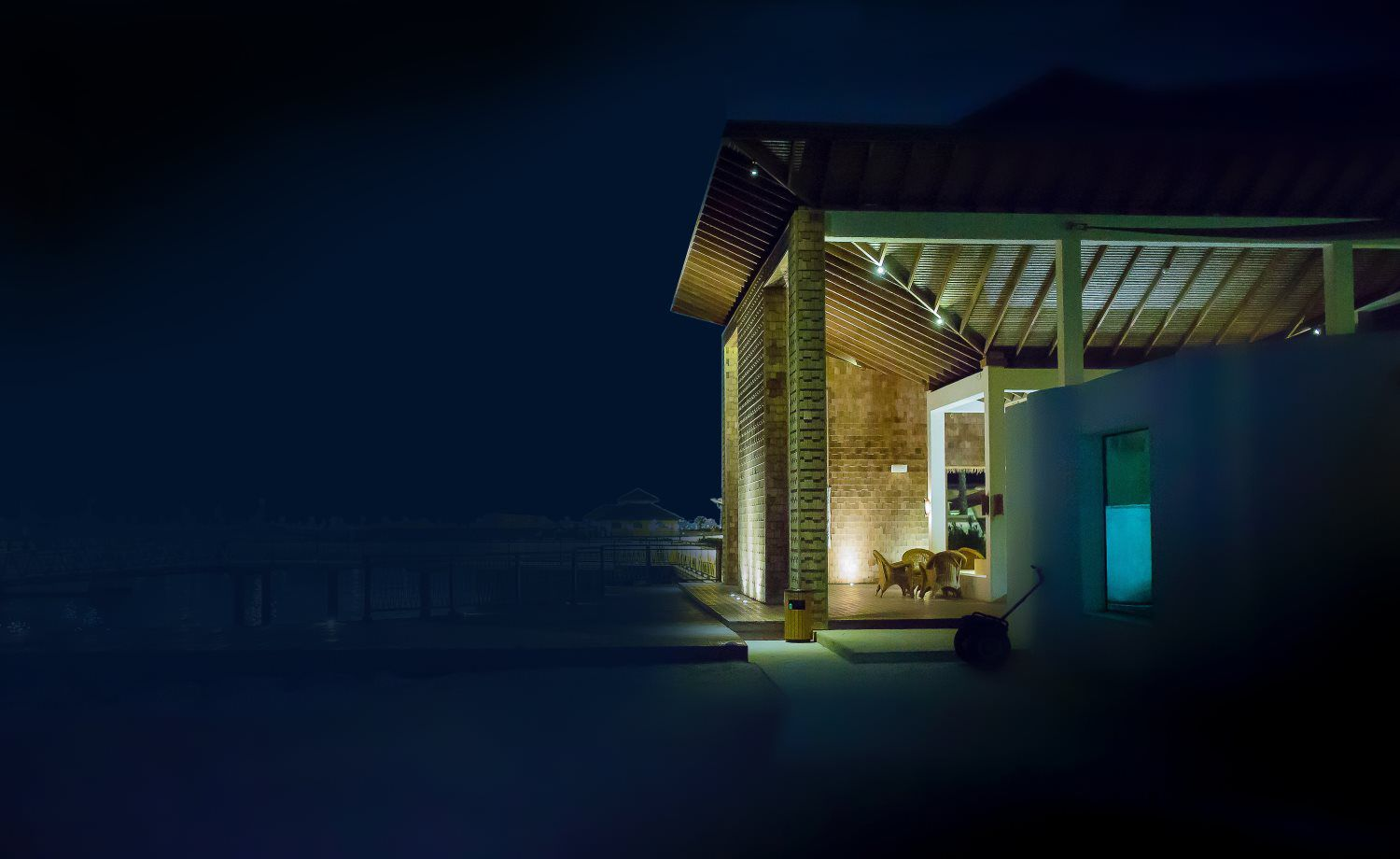house by night