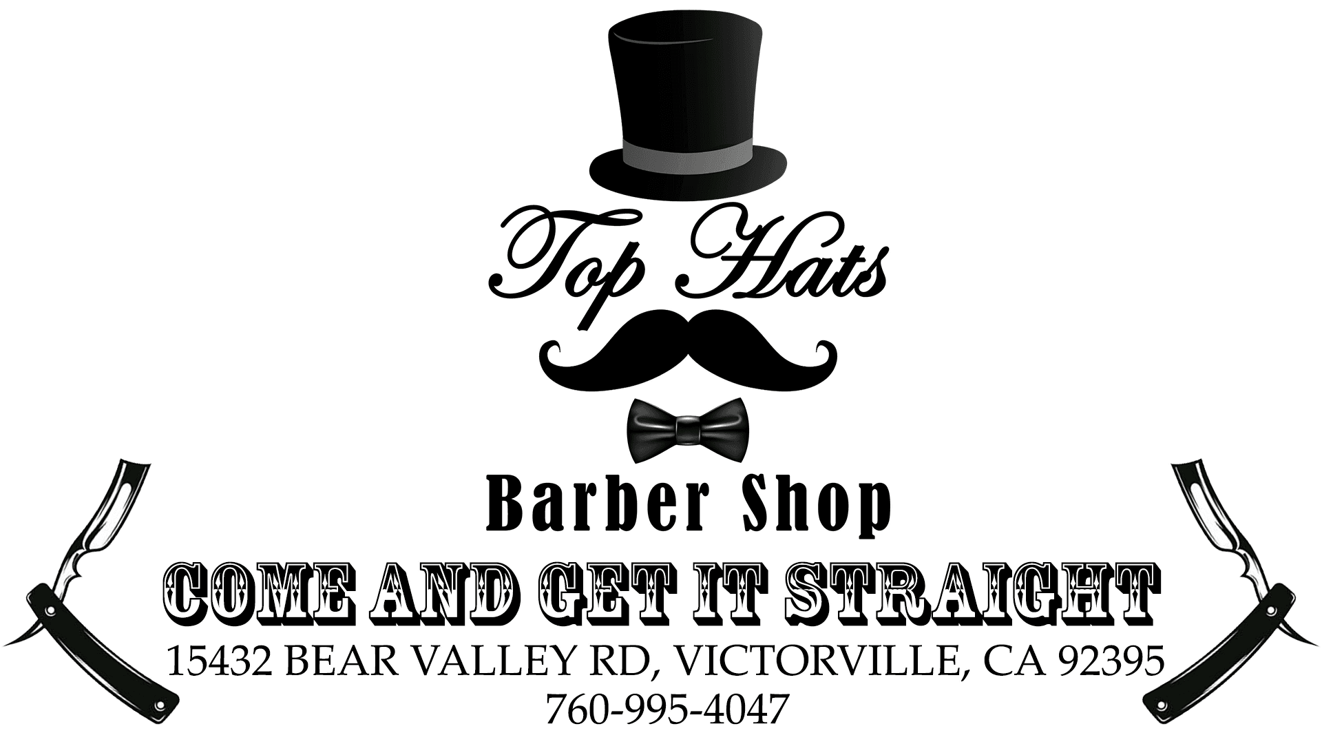 Shave And Haircut Top Hats Barber Shop