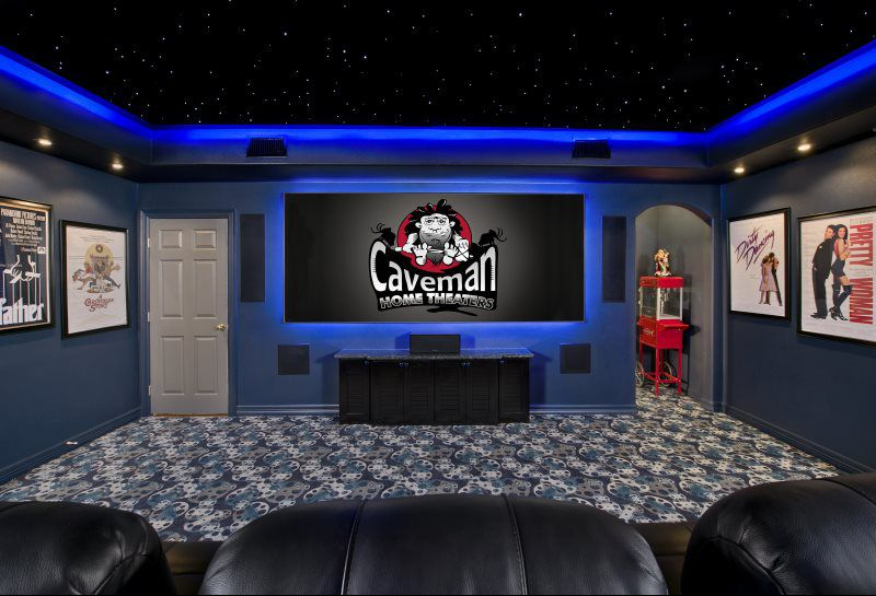 Home Entertainment Company - Caveman Home Theaters on kitchenette design, laundry room design, bathroom design, gourmet kitchen design, gym design, basketball court design, bar design, lounge design, steam room design, fireplaces design,