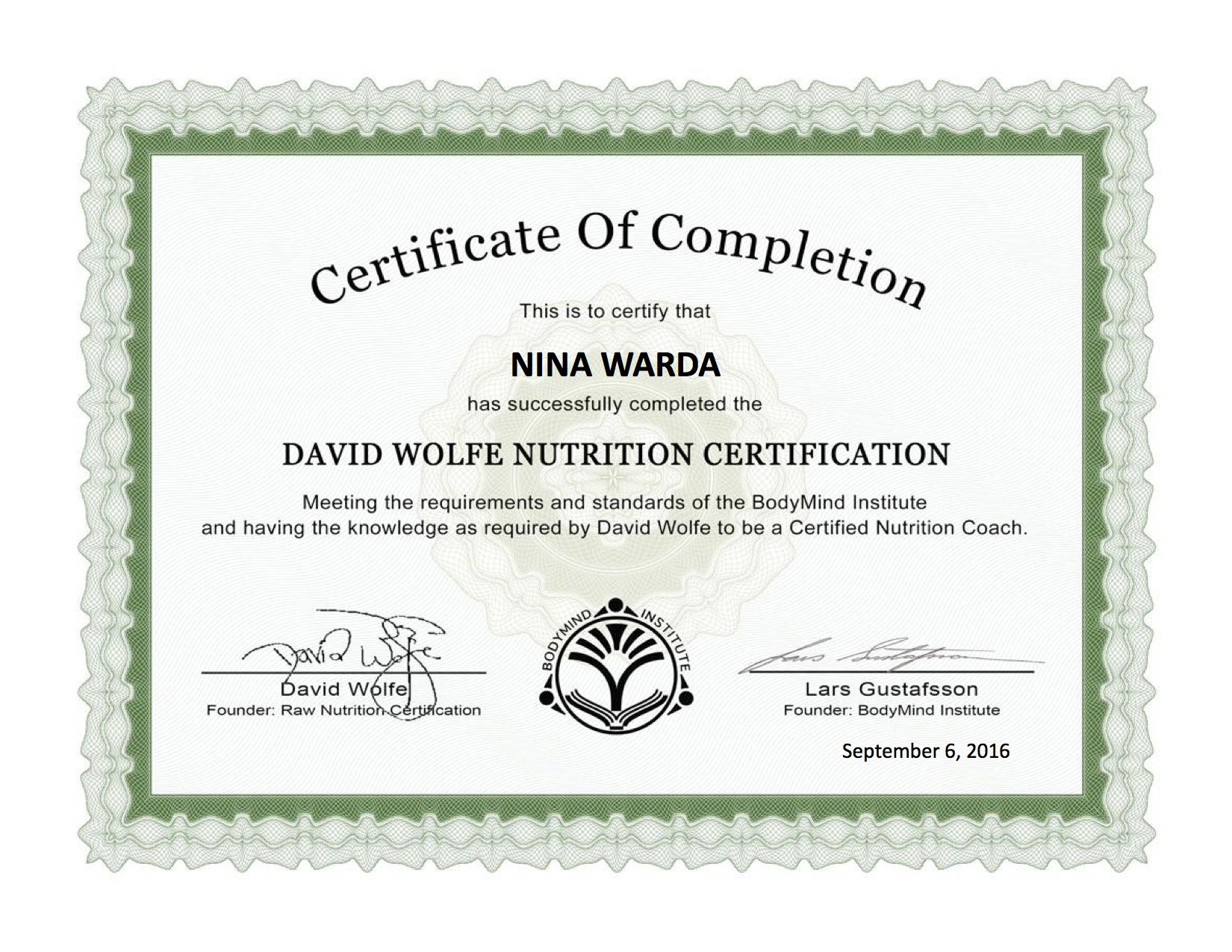 Awesome pictures of nutrition certificate business cards and home nina s organic cucpakes xflitez Images
