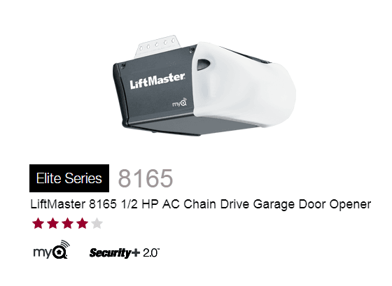liftmaster 12 hp ac chain drive garage door opener