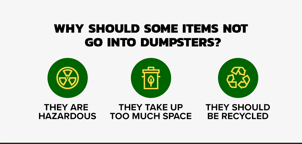 Reason Why Some Items Can't Go in a Dumpster