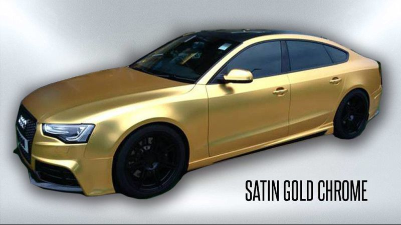 satin gold chrome