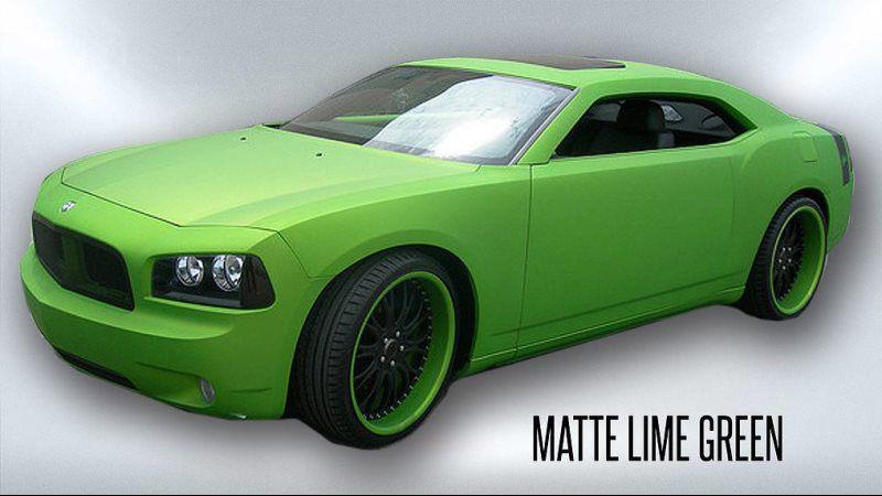 matte lime green