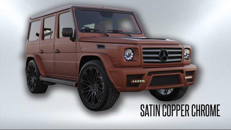 satin copper chrome
