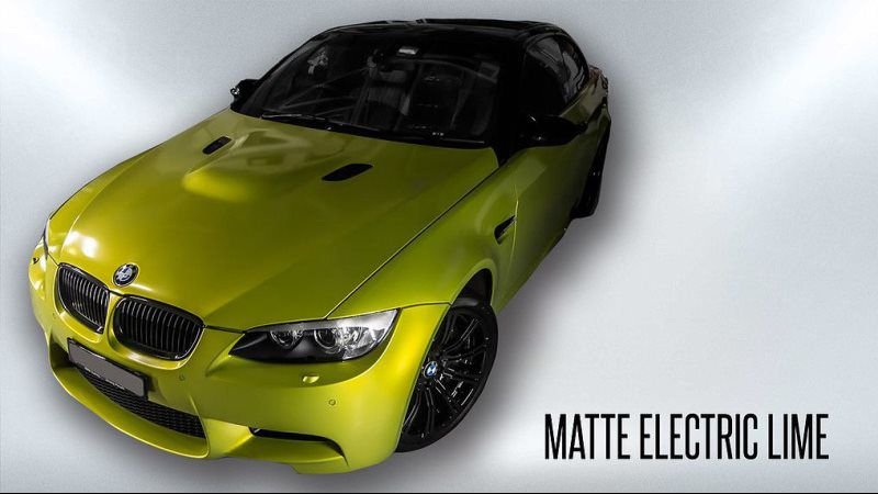 matte electric lime