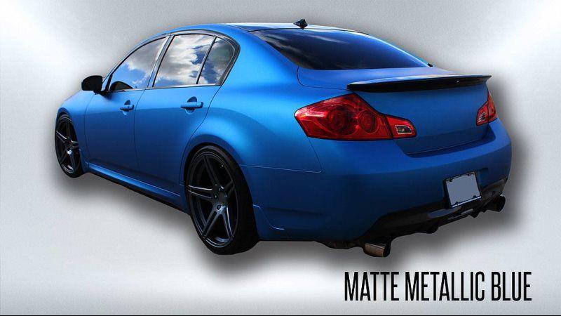 matte metallic blue