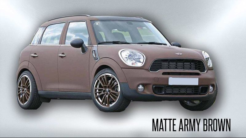 matte army brown