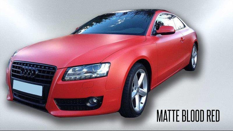 matte blood red