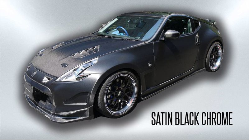 satin black chrome