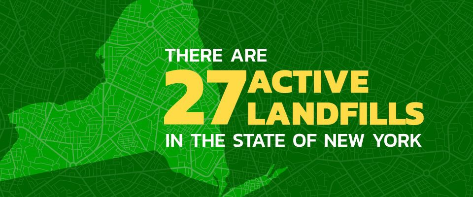 There are 27 Active Landfills in NY