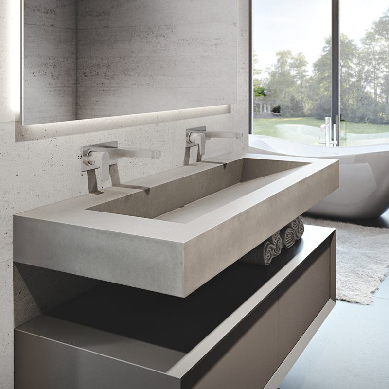 concrete sinks photos dreamcrete custom creations. Black Bedroom Furniture Sets. Home Design Ideas