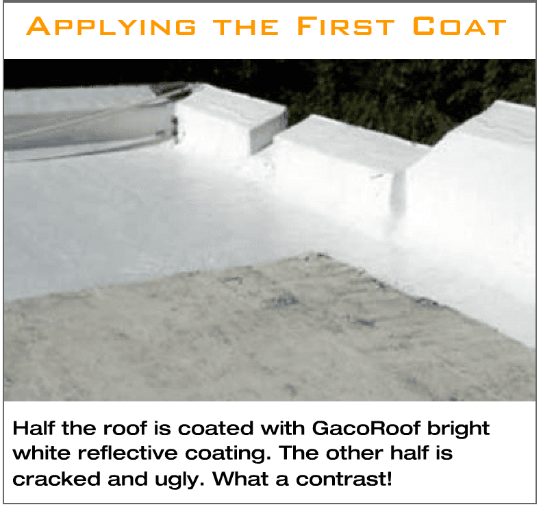 GacoRoof 100% Silicone Roof Coating At Work.