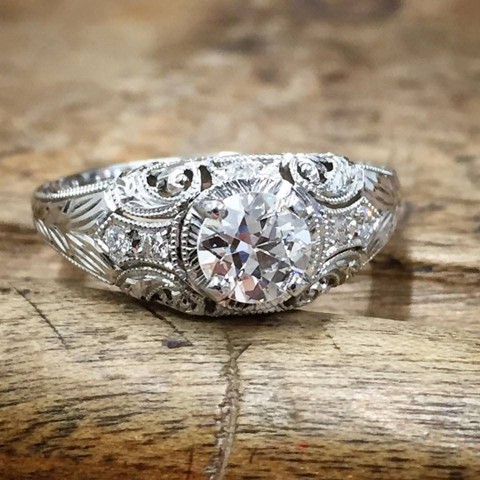 Vintage filigree wedding engagement rings whitehouse brothers polishing a vintage engagement ring junglespirit Image collections
