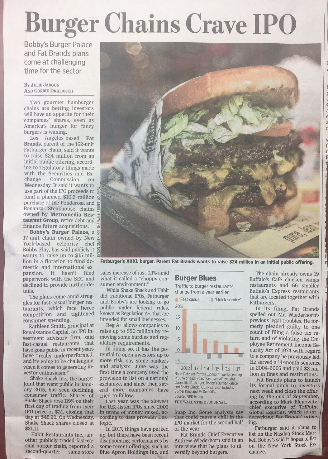 WSJ Burger IPO article 9.11.17.JPG