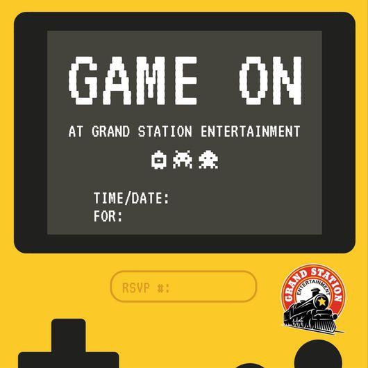 Birthday Party Invitations Grand Station Entertainment – Mini Golf Birthday Party Invitations