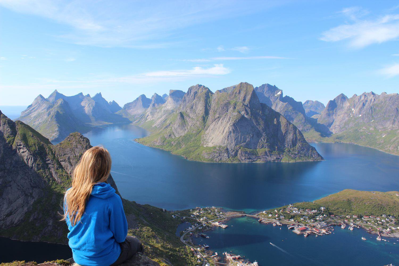 woman at mountain view