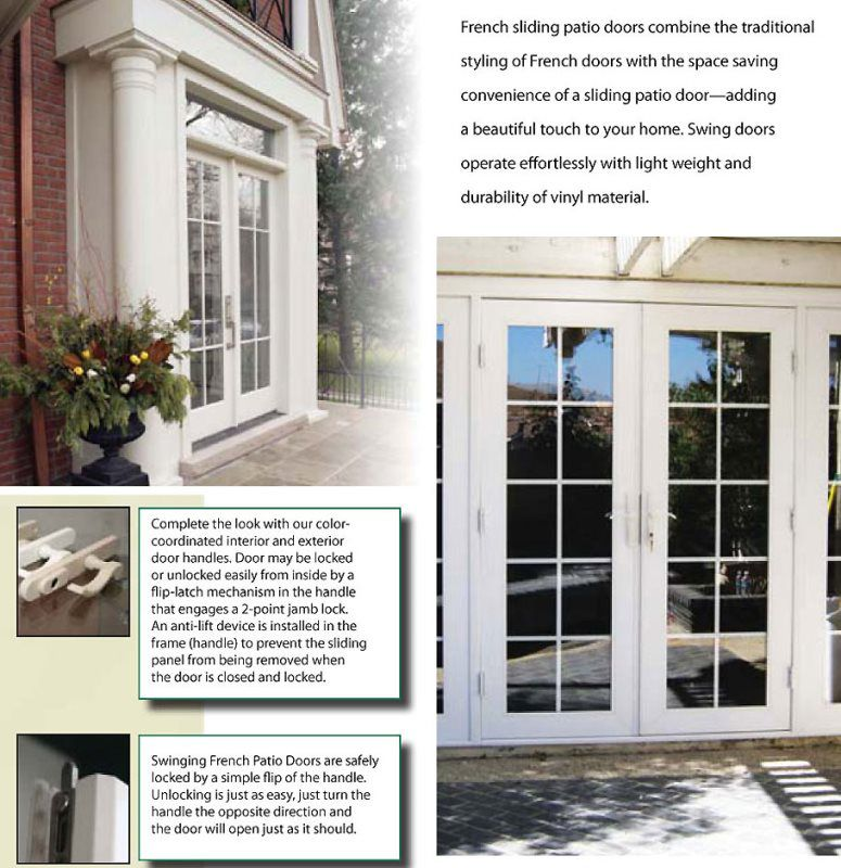 Sliding french door anamar windows manufacturing for 10 panel french door