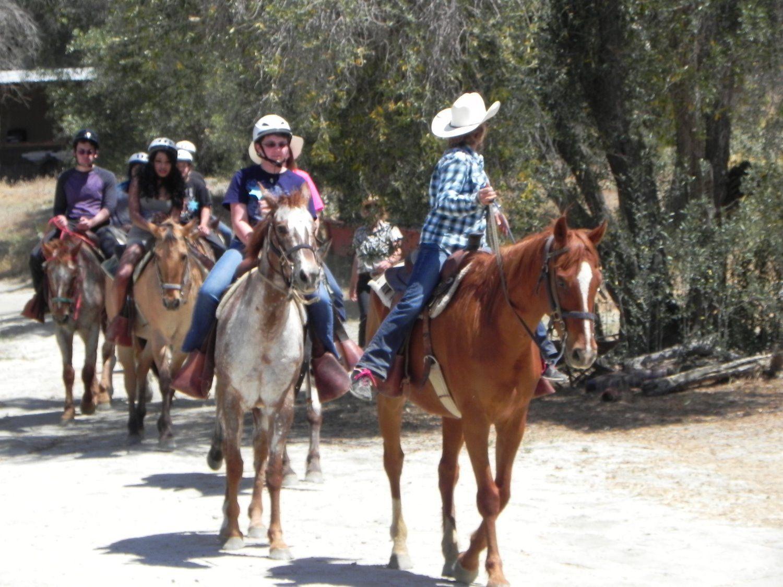 youth riding horses