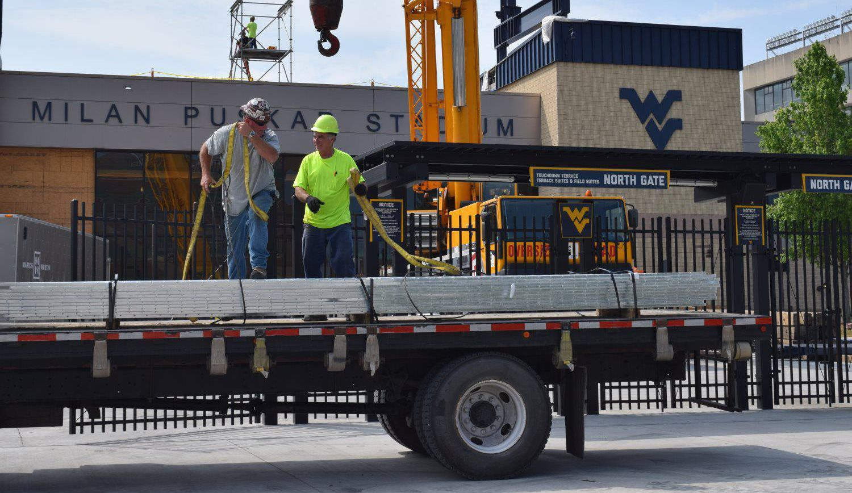 construction service truck