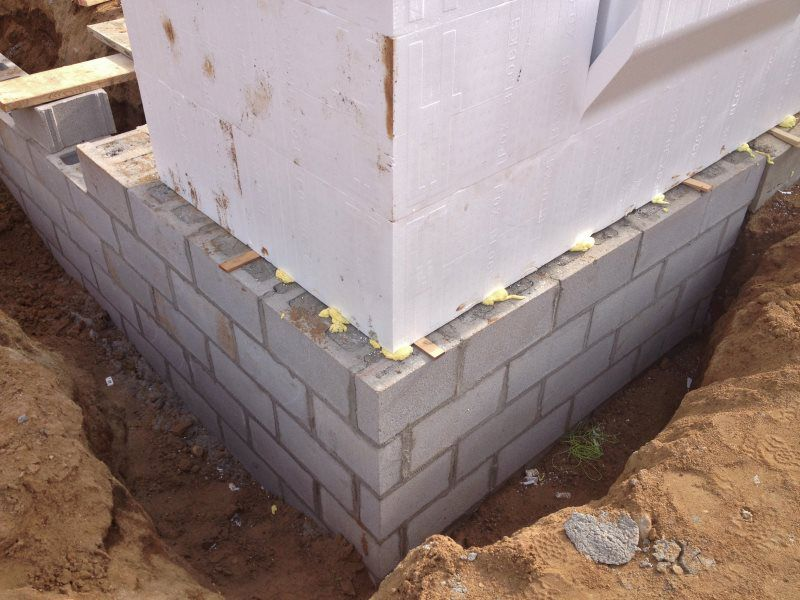 Foundation dexter builders for Insulated concrete block