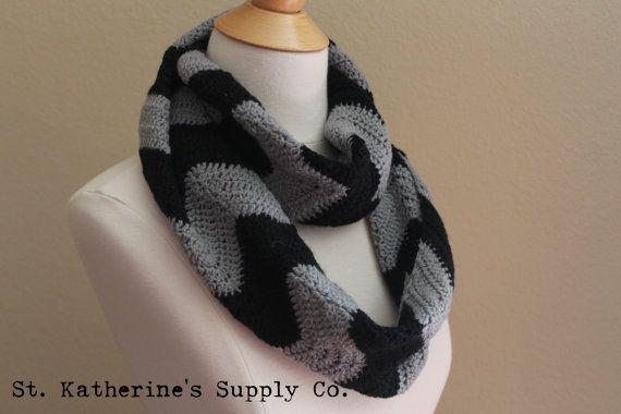 Cambridge Chevron Infinity Cowl Scarf Crochet Pattern Anne Potter