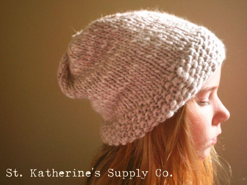 Birch Bark Slouchy Hat Knitting Pattern Anne Potter