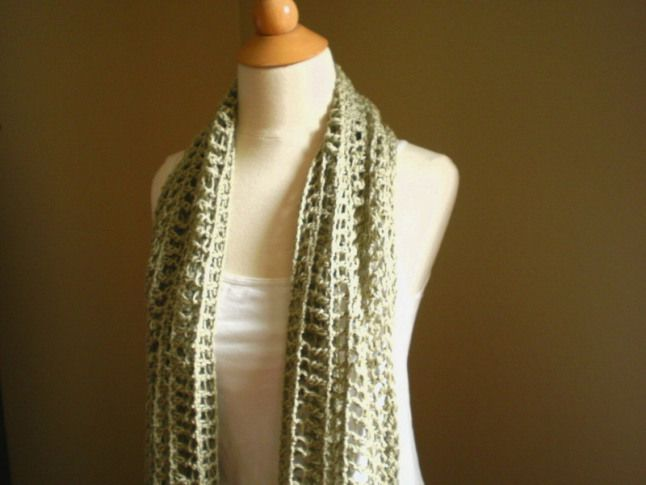 Itanos Summer Scarf Crochet Pattern Anne Potter