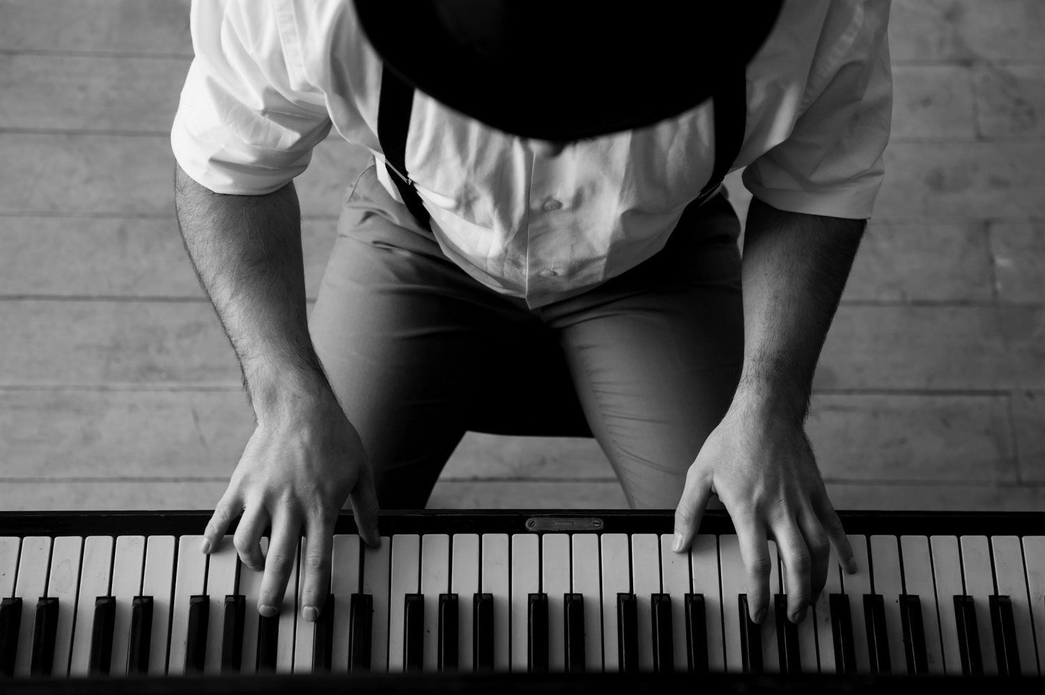 man playing the piano