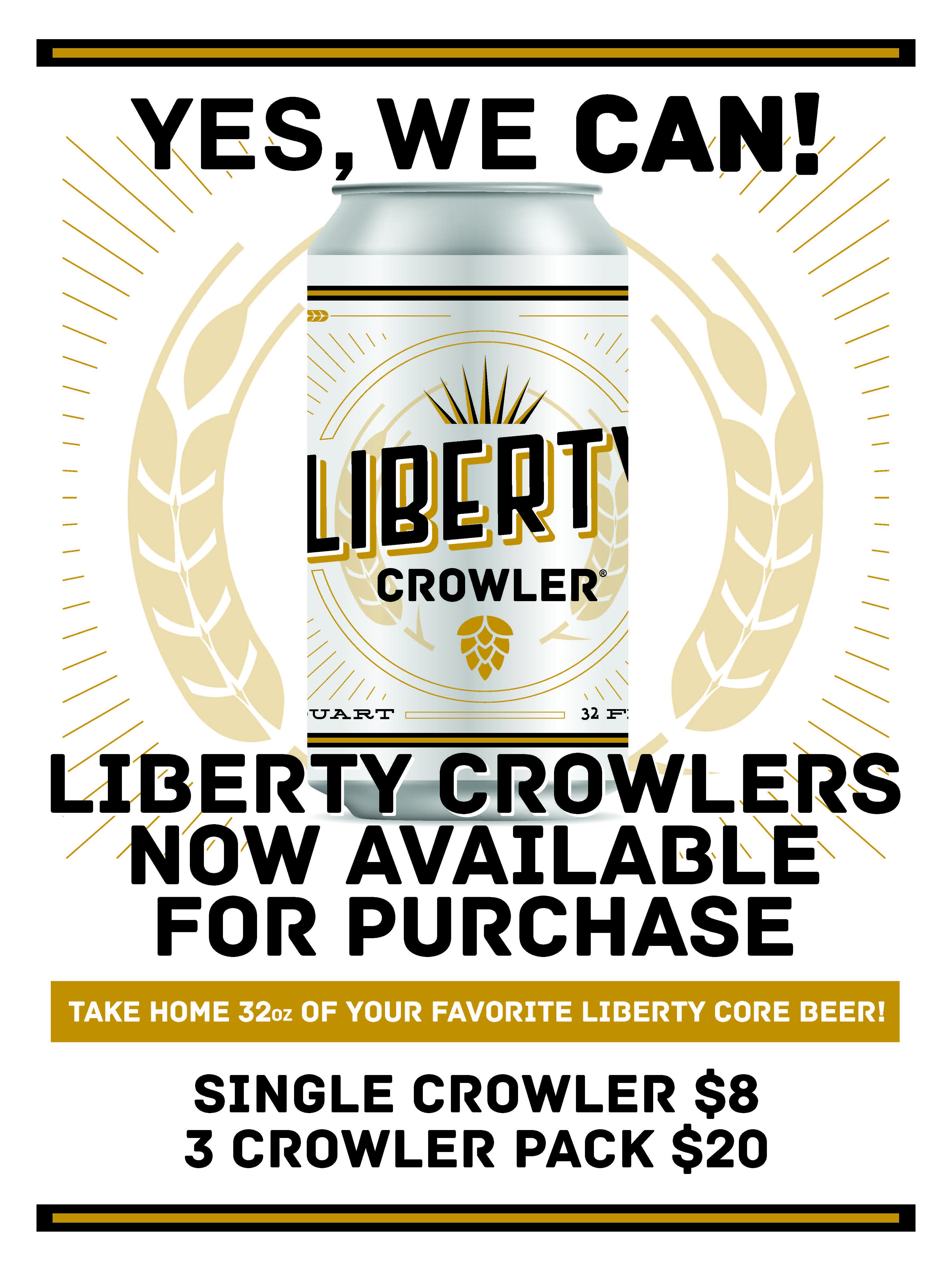 Liberty Brewery MB Crowlers Now On Sale 18x24.jpg