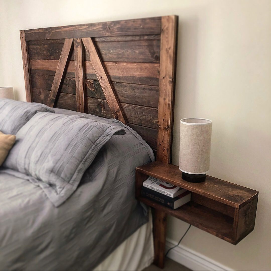 wood headboard custom and rustic in San Diego