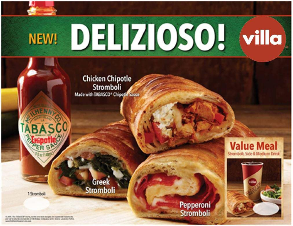 New Chicken Chipotle Stromboli Joins Villa Italian Kitchen Menu