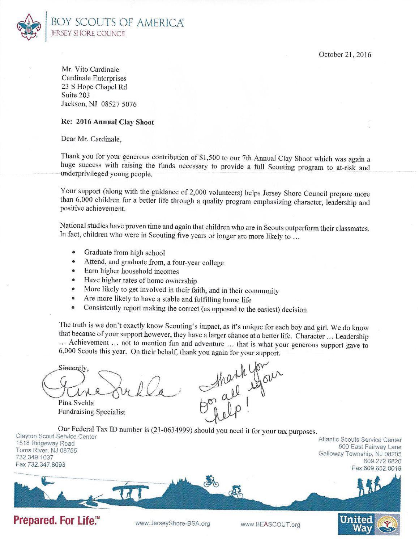 Recognition - Cardinale Enterprises