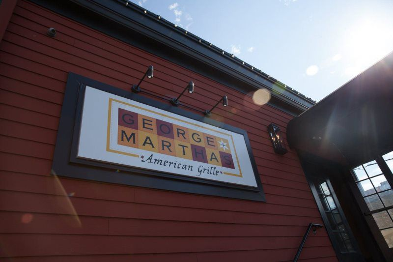 George and Martha's Exterior Signage