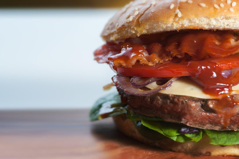 healthy and delicious burger
