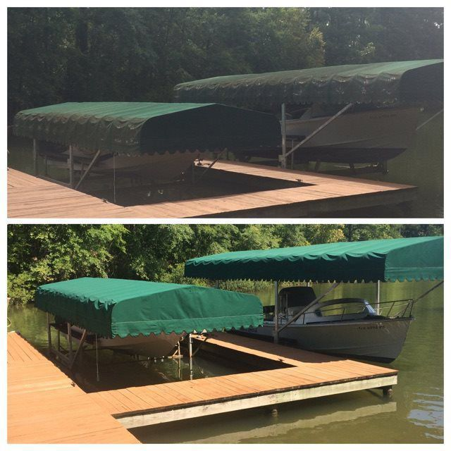 Boat Lift Canopy/Canvas Awning Cleaning - Softwash Solutions