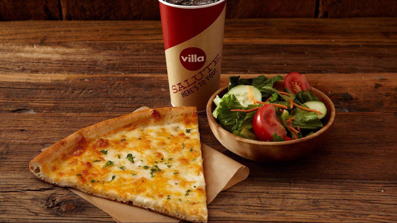 Cheese Slice & Salad